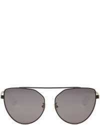 MCQ Alexander Ueen Black Cat Eye Sunglasses