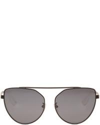 MCQ Alexander Ueen Black Cat Eye Sunglasses
