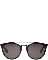 McQ Alexander Ueen Black Double Bridge Sunglasses
