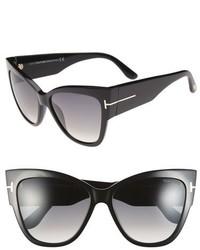 Tom Ford Anoushka 57mm Gradient Cat Eye Sunglasses Black Pink Lapo