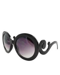 Apopo Int'l Black Oval Fashion Sunglasses