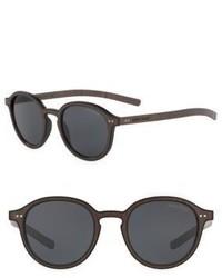 Giorgio Armani Armani Phantos 58mm Round Sunglasses