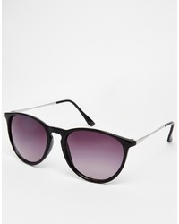 Asos Collection Round Sunglasses With Thin Frame