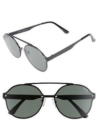 Quay Australia Camden Heights 59mm Aviator Sunglasses Black Green