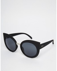 Quay Australia Dream Of Me Cat Eye Sunglasses In Black