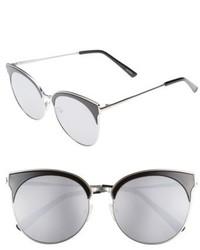 Quay Australia Mia Bella 56mm Sunglasses Black Silver