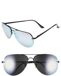 Quay Australia Muse 65mm Mirrored Aviator Sunglasses