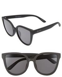 Quay Australia Paradiso 52mm Cat Eye Sunglasses Black Smoke