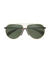 Rag & Bone Aviator Style Metal Sunglasses