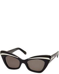 Karen Walker Babou Cat Eye Sunglasses Black