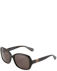 Balmain Round Acetate Sunglasses Blackgray