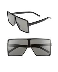 Saint Laurent Betty 63mm Oversize Shield Sunglasses