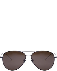Ann Demeulemeester Black Aviator 40 C1 Sunglasses