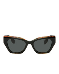Burberry Black Check Cat Eye Sunglasses
