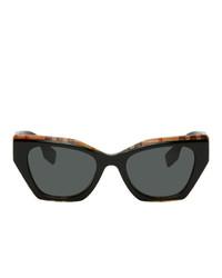 Burberry Black Check Cat Eye Sunglasses
