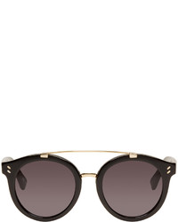 Stella McCartney Black Double Bridge Sunglasses