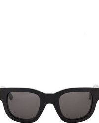 Acne Studios Black Etched Frame Sunglasses