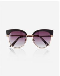 Express Black Felicity Cat Eye Sunglasses