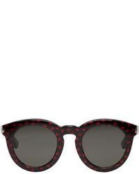 Saint Laurent Black Glitter Hearts Sl 102 Sunglasses