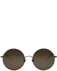 Ann Demeulemeester Black Large Round Sunglasses