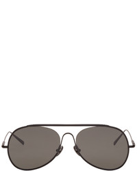 Acne Studios Black Large Spitfire Aviator Sunglasses