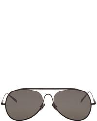 Acne Studios Black Large Spitfire Aviator Sunglasses