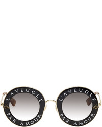 Gucci Black Laveugle Par Amour Sunglasses