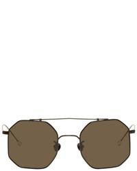 Ann Demeulemeester Black Linda Farrow Edition Octagon 52 Sunglasses