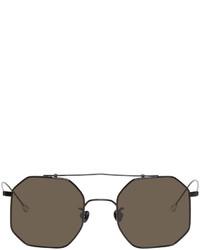 Ann Demeulemeester Black Linda Farrow Edition Octagon Sunglasses