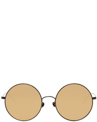 Ann Demeulemeester Black Linda Farrow Edition Round 27 Sunglasses