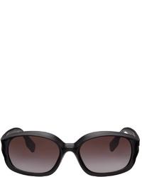 Burberry Black Oval Sunglasses