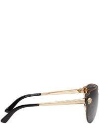 Versace Black Pilot Aviator Sunglasses