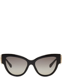 Versace Black Rock Icons Baroque Medusa Cat Eye Sunglasses