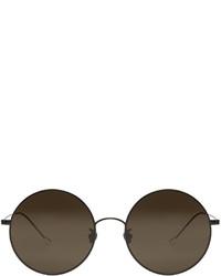 Ann Demeulemeester Black Round Sunglasses