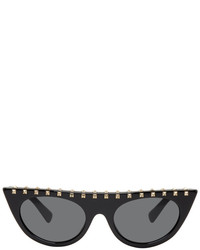 Valentino Black Soul Rockstud Cat Eye Sunglasses