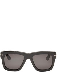 Valentino Black Square Rockstud Sunglasses