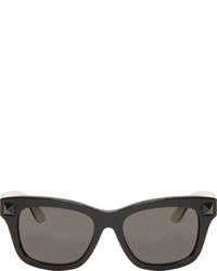 Valentino Black White Rockstud Wayfarer Sunglasses