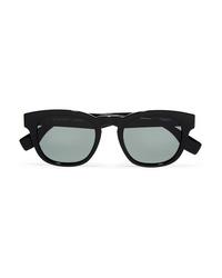 Le Specs Block Party Square Frame Acetate Sunglasses