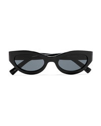 Le Specs Body Bumpin Cat Eye Acetate Sunglasses