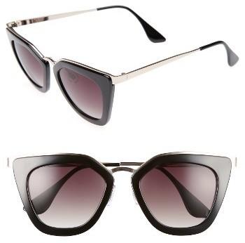 52mm Cat Eye Sunglasses Mauve