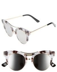 56mm Funky Cat Eye Sunglasses Black Gold
