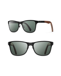 Shwood Canby 54mm Polarized Titanium Wood Sunglasses