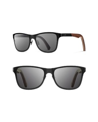 Shwood Canby 54mm Titanium Wood Sunglasses