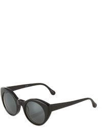 Elizabeth and James Carroll Round Plastic Sunglasses Black