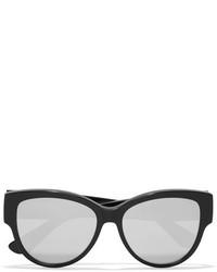 Saint Laurent Cat Eye Acetate Mirrored Sunglasses Black