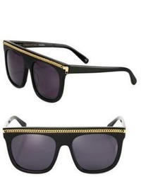 Stella McCartney Chain Trim 55mm Square Sunglasses