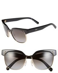 Chloé Chloe Dafne 57mm Gradient Sunglasses Crystal