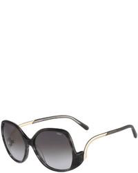 Chloé Chloe Emilia Drop Temple Sunglasses Black