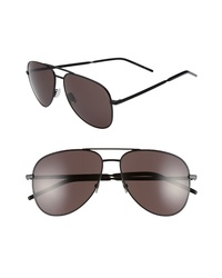 Saint Laurent Classic 11 Folk 59mm Aviator Sunglasses
