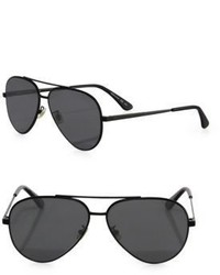 Saint Laurent Classic 11 Zero 60mm Aviator Sunglasses